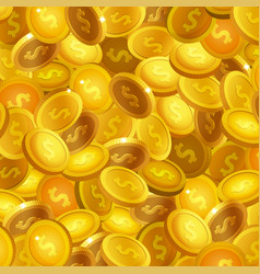 stock many realistic gold vector image