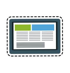 tablet gadget icon image vector image