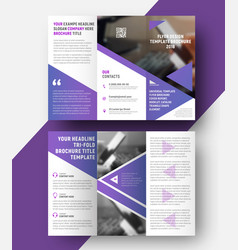 Template of a fold brochure vector