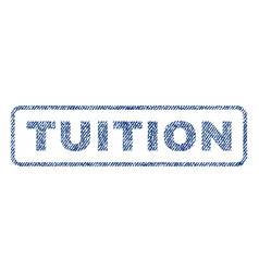 Tuition textile stamp vector