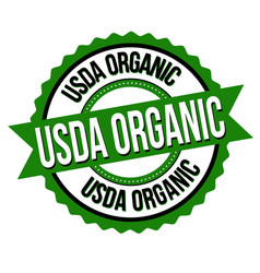 Usda organic sign or stamp vector