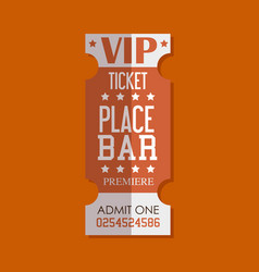 Vip ticket entrance icon vector