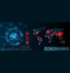 visualization coronavirus 2019-ncov epidemic vector image