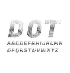 Wave dotted font in retro style vector