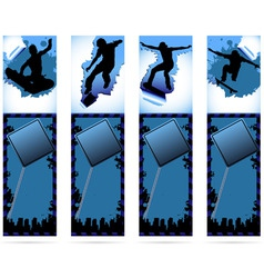 web elements on urban grunge background with skate vector image