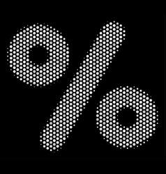 White pixel percent icon vector