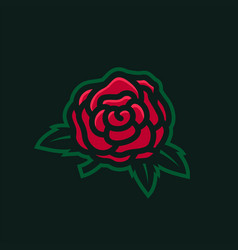 Wild rose e sport logo icon vector