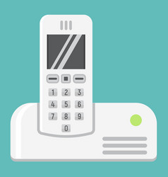 wireless telephone flat icon household appliance vector image