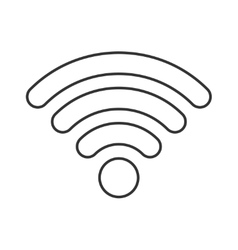 Wireless thin line icon vector image