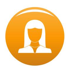 Woman avatar icon orange vector
