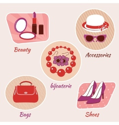Woman beauty emblems vector