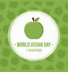World vegan day greeting card vector