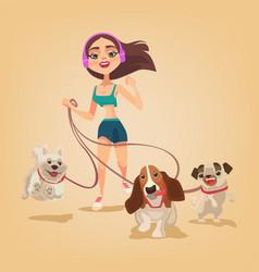 dog walking service vector image vector image