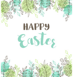 green easter greeting card vector image vector image