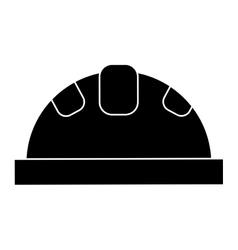 helmet protective head construction security vector image