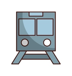 subway transport isolated icon vector image