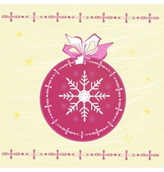 template for christmas card vector image vector image