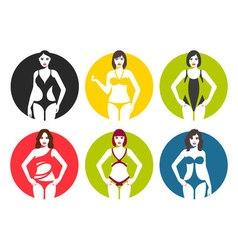 Women in swimsuit vector image vector image