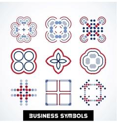 Business geometric shape symbols Icon set vector image vector image