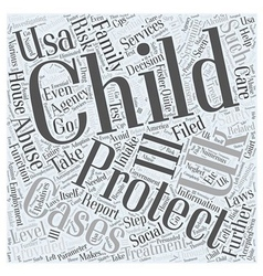 child protection uk and usa Word Cloud Concept vector image vector image