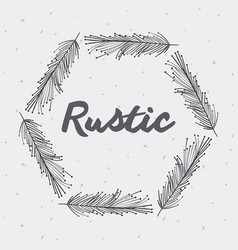 gray rustic feathers icon vector image