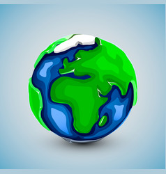 realistic beautiful planet earth globe vector image