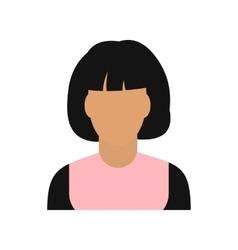 Woman avatar simbol vector image
