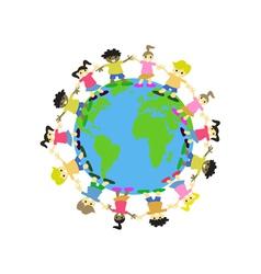 WORLD KIDS vector image vector image