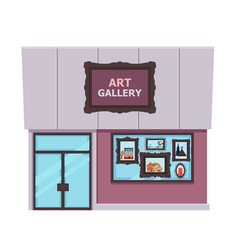 art gallery isolated on white background vector image