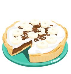 Dark chocolate banana cream pie xa vector