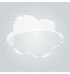 Glass Cloud Icon vector image vector image