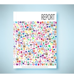 report soccer background icon color eps10 vector image vector image