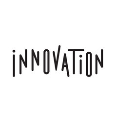 typography of the word innovation vector image