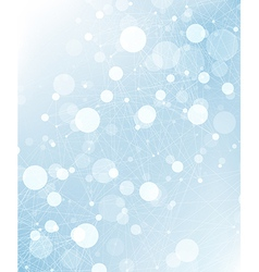 abstract connections background blue vector image vector image