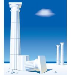 antic columns vector image