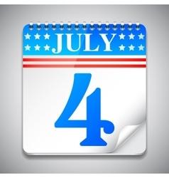 Fourth july calendar vector