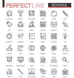 school education thin line web icons set outline vector image vector image
