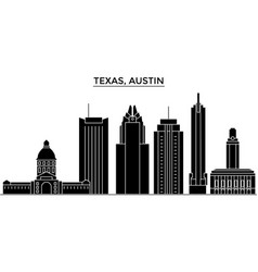usa texas austin architecture city skyline vector image