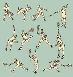 Woman Tennis Action Sport vector image