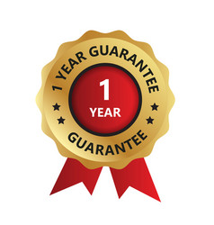 1 year guarantee badge guarantee certificate vector