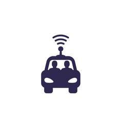 Autonomous self drive car icon vector