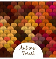 Autumn Forest Scaly Texture vector image