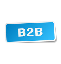B2b square sticker on white vector