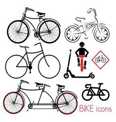 biciklo varijante2 vector image