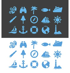 Big set of Nautical icons for Vacation and Travel vector