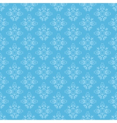 blue seamless ornamental pattern vector image