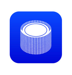 Building roll net icon blue vector