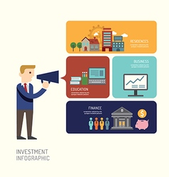 Businessman presentation infographic design vector