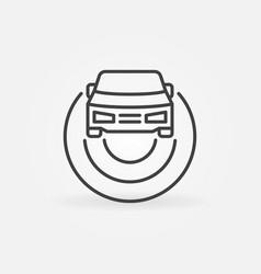 Car autopilot outline icon autonomous vehicle av vector