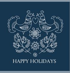 Card ethno decorative folk ornament fabric vector